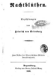 Nachtblu̿then Erzählungen von Heinrich von Ortenburg