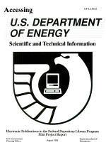 Accessing U.S. Department of Energy Scientific and Technical Information