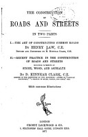 The Construction of Roads and Streets  In Two Parts PDF