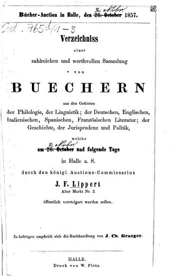 B  cher Auction in Halle PDF