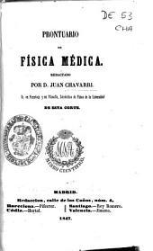 Prontuario de física médica redactado por Juan Chavarri