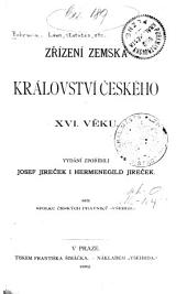 Zřízení zemská Království českého XVI. věku
