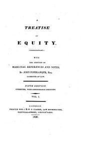 A Treatise of Equity: Volume 1