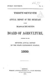 Annual Report of the Secretary of the Board of Agriculture: Volume 37