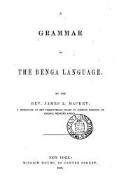 A grammar of the Benga language