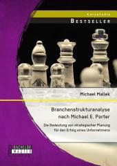 Branchenstrukturanalyse nach Michael E. Porter: Die Bedeutung von strategischer Planung für den Erfolg eines Unternehmens