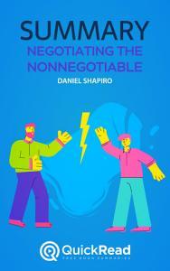 Negotiating the Nonnegotiable by Daniel Shapiro  Summary  Book