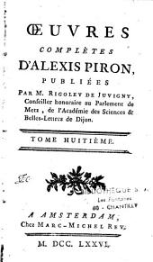 Oeuvres complètes d'Alexis Piron