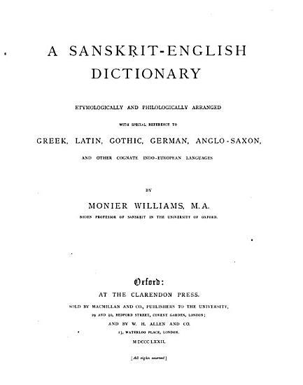 A Sanskrit English Dictionary PDF
