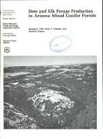 Deer and Elk Forage Production in Arizona Mixed Conifer Forests