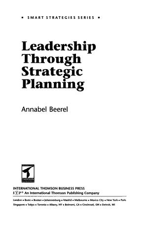 Leadership Through Strategic Planning PDF