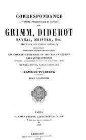 Correspondance littéraire: Volume4