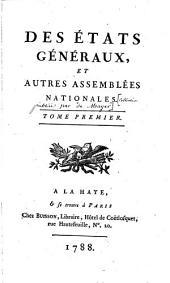 Des Etats généraux et autres assemblées nationales
