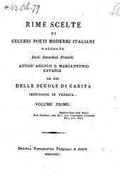 Rime Scelte Di Celebri Poeti Moderni Italiani: Volume 3