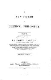 A New System of Chemical Philosophy: Volume 1