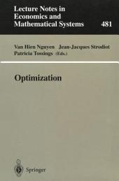 Optimization: Proceedings of the 9th Belgian-French-German Conference on Optimization Namur, September 7–11, 1998