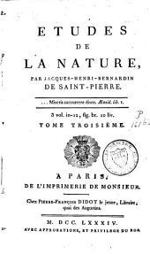 Etudes de la nature: Volume3