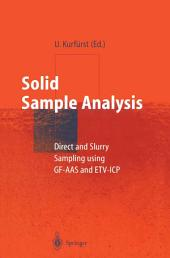 Solid Sample Analysis: Direct and Slurry Sampling using GF-AAS and ETV-ICP