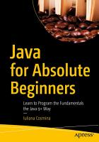 Java for Absolute Beginners PDF