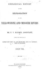 Geological Report of the Exploration of the Yellowstone and Missouri Rivers