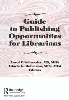 Guide to Publishing Opportunities for Librarians PDF