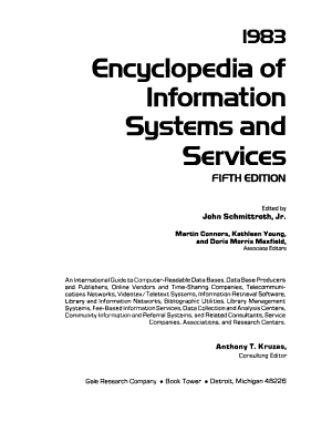 Encyclopedia of Information Systems and Services