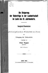 Die Steigerung der Roherträge in der Landwirtschaft im Laufe des 19. Jahrhunderts