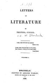 Letters on literature, by Photius junior