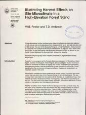 Illustrating harvest effects on site microclimate in a high-elevation forest stand
