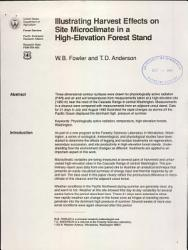 Illustrating Harvest Effects On Site Microclimate In A High Elevation Forest Stand Book PDF