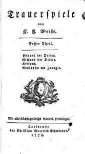 Trauerspiele: Eduard der Dritte. Richard der Dritte. Krispus. Mustapha und Zeangir. Erster Theil, Band 69