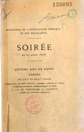 Courte notice sur la danse à la cour et au théâtre du XVIe au XIXe siècle