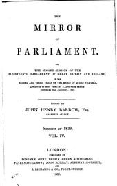 The Mirror of Parliament: Volume 4