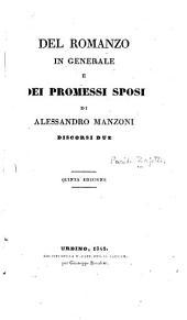 Del romanzo in generale e dei Promessi sposi di Alessandro Manzioni: discorsi due