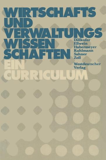Wirtschafts  und Verwaltungswissenschaften PDF