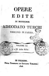 Opere inedite [-edite] di monsignor Adeodato Turchi vescovo di Parma: 4. delle Edite