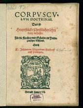 Corpusculum Doctrinae, für das Pomezanische Bisthum