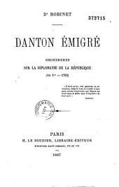 Danton émigré: recherches sur la diplomatie de la république (an 1er-1793)