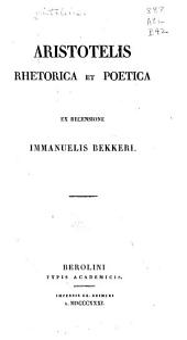 Aristotelis Rhetorica et poetica