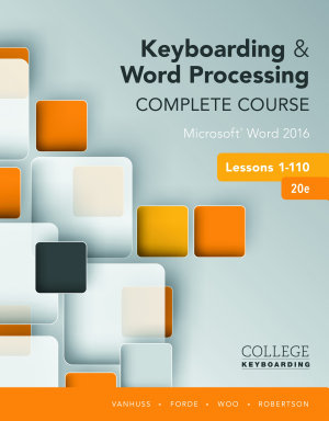 Keyboarding and Word Processing Complete Course Lessons 1 110  Microsoft Word 2016 PDF