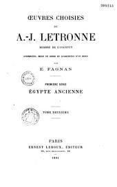 Oeuvres choisies de A.-J. Letronne