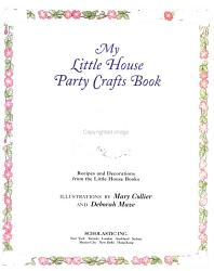 My Little House Party Crafts Book Book PDF