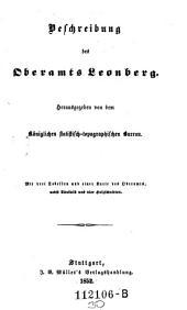 Beschreibung des Oberamts Leonberg