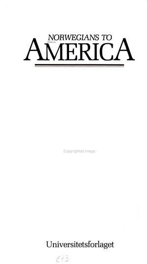 Norwegians to America PDF