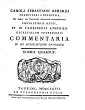 Caroli Sebastiani Berardi ... Commentaria in jus ecclesiaticum universum: Volume 1; Volume 3