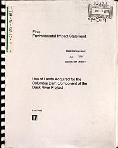 Use of Lands Acquired for the Columbia Dam Component of the Duck River Project  Maury County PDF