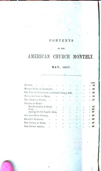 Download The American Church Monthly Book