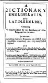 A Dictionary English Latin And Latin English