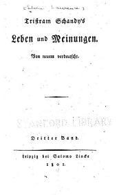Tristram Schandy's Leben und Meinungen: Band 3