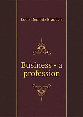 Business   a profession